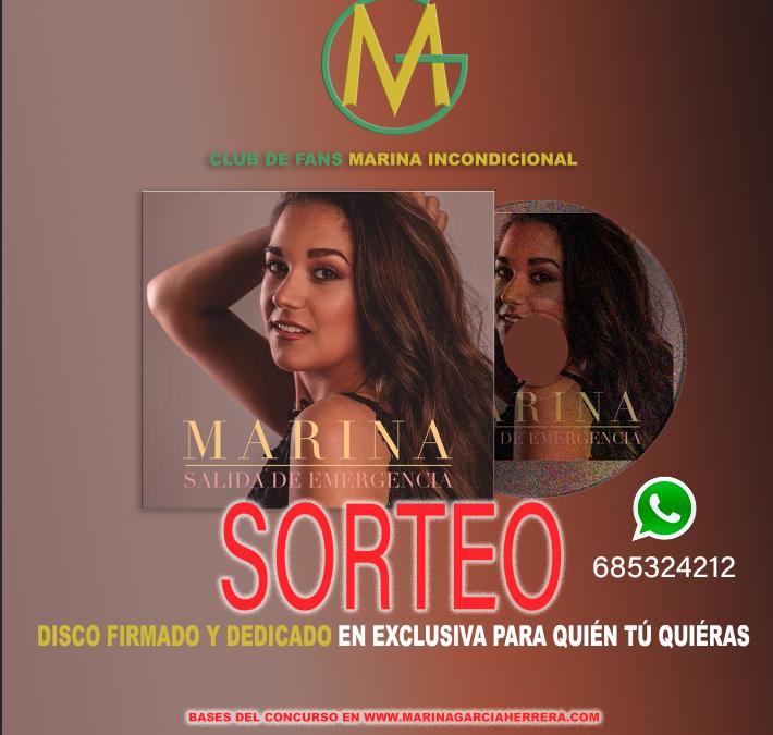 Marina Sorteo Disco Nuevo Firmado y Dedicado